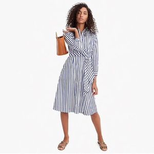 New with tags J.Crew blue/white striped shirtdress